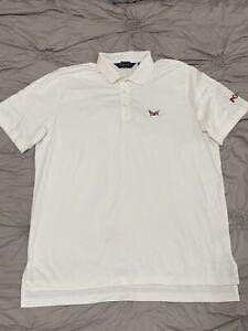 Polo Golf Ralph Lauren White Shirt American and Georgia flags sz XL