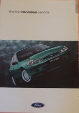Very Rare Ford Mondeo Verona Special / Limited Edition Brochure March 2000