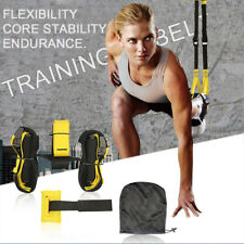 Home Gym Suspension Straps Rope Workout Resistance Strength Training UPGRADED US