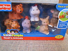 Fisher Price Little People Noah's ARK Animals Hippo leopard kangaroo extras new