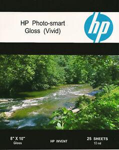HP Photo-smart Gloss Vivid~8 x 10 Photo Paper~300ct