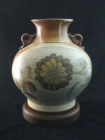 "Studio Art Pottery Large Vase Museum Quality 8.5"" Tall Signed Wyman"