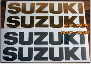 2 SUZUKI Stickers, Decals for BIKE, OUTBOARD, QUAD. 18 Colours, Many Sizes.