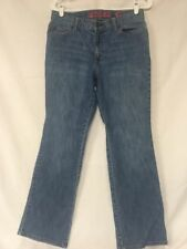 NEW YORK & Co Size 10 Petite Battery Park Bootcut Jeans 5 pocket Zip Fly #264