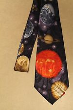 All The Planets Of The Solar System On A New Navy Blue Neck Tie!  Free Shippin
