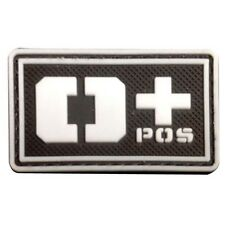 O+ POS BLOOD GROUP USA ARMY BLOOD TYPE 3D PVC RUBBER MORALE BADGE PATCH