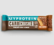 MYPROTEIN CARBCRUSHER X10 BARS (FUDGE BROWNIE FLAVOUR) HUGE VALUE BODY HEALTH