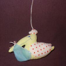 "Lot 6 Stork Baby Shower Party Favor 3"" Plush Stuffed Animal Christmas Ornament"