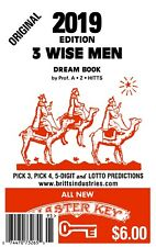 2019 Original 3 Wisemen Dream Book  - Lottery Book - Lottery