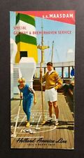 1962 Holland-America Line Cruise Ship Brochure ~ S.S. Maasdam