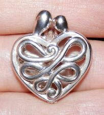 Carolyn Pollack Relios 925 Sterling Silver Mother Child Heart Locket Pendant