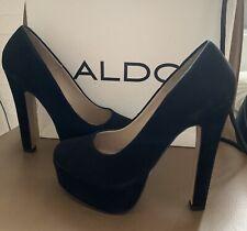 ALDO Schuhe Absatz einmal getragen Pumps 37 Wildleder Platform