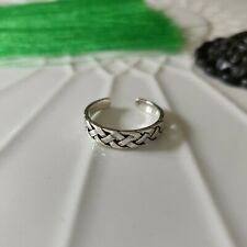 Solid 925 Sterling Silver Celtic Weave Toe Ring