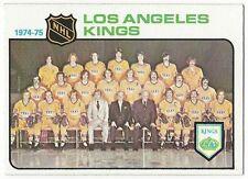 1975-76 TOPPS HOCKEY #86 KINGS TEAM CHECKLIST - NEAR MINT