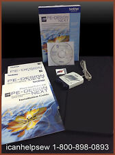 New! Brother Pe Design Next Embroidery Software Monogramming Digitizing