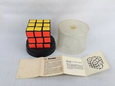 VINTAGE RUBIK'S CUBE PUZZLE BOX & PAPER WORK & CASE  IDEAL 1980 HUNGARY