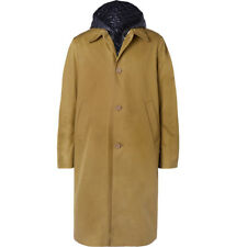 ACNE STUDIOS MIDNIGHT COTTON-TWILL COAT WITH DETACHABLE QUILTED SHELL GILET 44