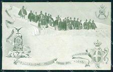 Militari 60º Reggimento Fanteria Distaccamento Bardonecchia cartolina XF0159