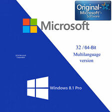 Windows 8.1 Pro 32/64 Full Version Product Key License&Download