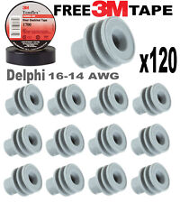 120x Delphi Weather Pack Metri-Pack 280 Series Gray Seal 14-16 AWG *FREE 3M Tape