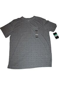 Nike Men's Sports T-Shirt Grey Black Aop Air Max Size XL New With Label