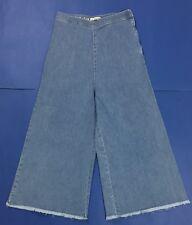 Rue bisquit jeans donna usato RS5703 loose zampa gamba larga denim svasati T4161