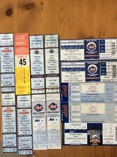 HUGE NEW YORK METS UNUSED SHEA STADIUM TICKETS 1977 to 2008
