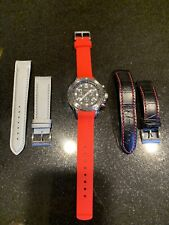 Nautica NST Diver chronograph N14536G Wrist Watch for Men Multi Straps Included
