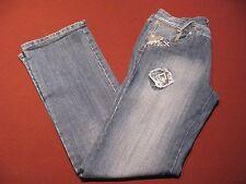 """Women's Stylish Medium Blue Denim PUZZLE Jeans Size 9/10 -  Inseam & Waist 31 """""""
