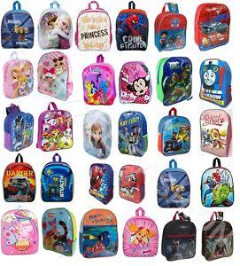 Boys Girls Kids Backpack Junior Toddler Marvel Disney Character School Lunch Bag