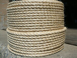 "BIG Cat Scratch Post Replacement Material 1/2"" x 50 ft Natural Sisal Fiber Rope"