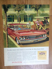 1960 Pontiac Catalina Safari Wagon Ad  Turns Heads or Corners   AF/VK