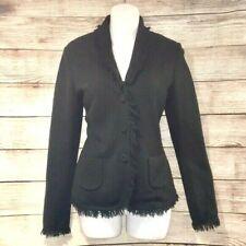 Maria Di Ripabianca. SZ 8. Wool Silk Cashmere Green Fringed Sweater. US Size 8