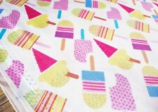Pastel POPSICLES COTTON ice lolly cream summer craft kawaii Fabric Freedom 1m