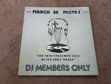 "DJ Members Only  March 88 Mixes 1   12"" Inch Vinyl   Pet Shop Boys, Kylie Krush"