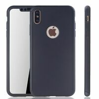 Apple IPHONE XS Max Cellphone Case Protective Full Cover Armor Glass Black