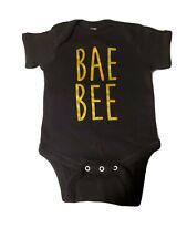 "Rabbit Skins Baby One Piece 6-Month Unisex Black Playsuit ""Bae Bee"""