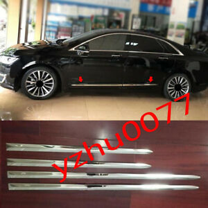 2017-2020  For Lincoln MKZ Stainless steel chrome side door molding trim cover*4