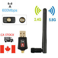 600Mbps Dual Band Wireless USB WiFi Network Adapter 2.4G 5.8G w/Antenna For PC