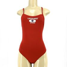 SPEEDO LIFEGUARD Women One Piece SWIMSUIT Red Sz 6/32