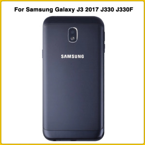 Replacement Battery Cover for Samsung Galaxy J3 (2017) J330 with frame [Black]