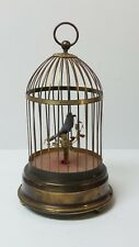 Vintage German Musical Singing Bird Birdcage Music Box