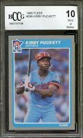1985 Fleer #286 Kirby Puckett Rookie Card BGS BCCG 10 Mint+