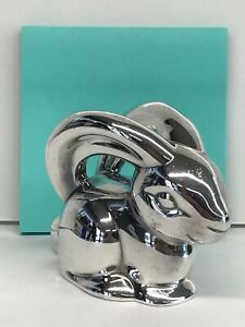 Tiffany & Co. Sterling Silver Bunny Rabbit Rattle - Hip To The Hop!