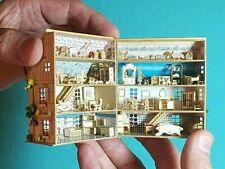 Bastelset Puppenhaus M 1:144 mit Tapete Möbel deko mit H16095 Holz L 7 cm