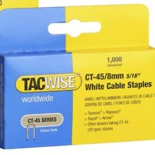 Tacwise CT-45 8mm white cable staples  Boxed in 1,000