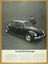 1971 VW Beetle Limousine chauffeur photo 'the $35000 Volkswagen' vintage Ad