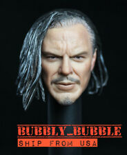 1/6 Whiplash Mickey Rourke Head Sculpt Iron Man 2 For Hot Toys PHICEN Figure USA