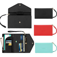 RFID Passport Holder Wristlet Wallet Document Organizer Long Handbag Card Purse