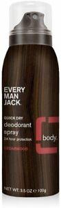 Quick Dry Deodorant Spray by Every Man Jack, 3.5 oz Cedarwood
